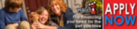 WAGS lending logo dog financing