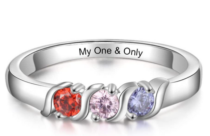 Personalized Birthstone Rings are around ten bucks!