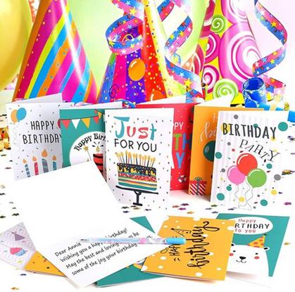 24pc Happy Birthday Card Pack around $10 w/code!