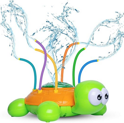 Kids Love the Wiggling Turtle Sprinkler, Half Off here!