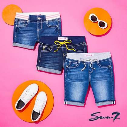 Girls Seven7 Jean Shorts $12.99