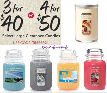 HOT DEAL on Yankee Candles!