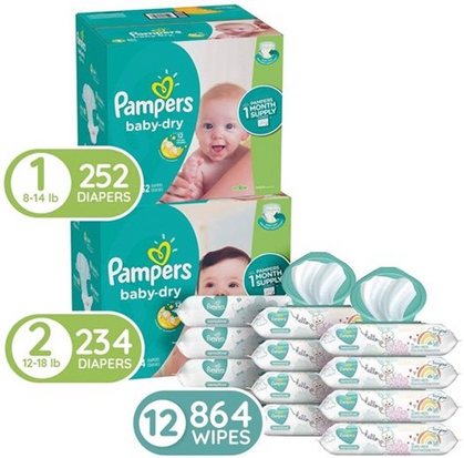 Clip the coupon for $25 OFF this Pampers Bundle