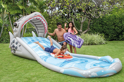 Inflatable Shark Water Slide is a big hit!!!