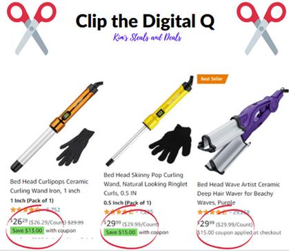 BIG Digital Qs on many Bed Head Hair Tools!!