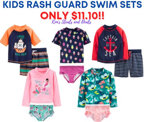 Kids Rash Guard Swim Sets $11.10