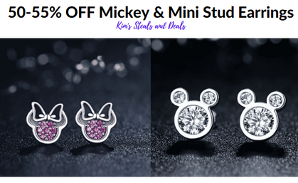 Adorable Mouse Stud Earrings drop 50-55% with my Codes