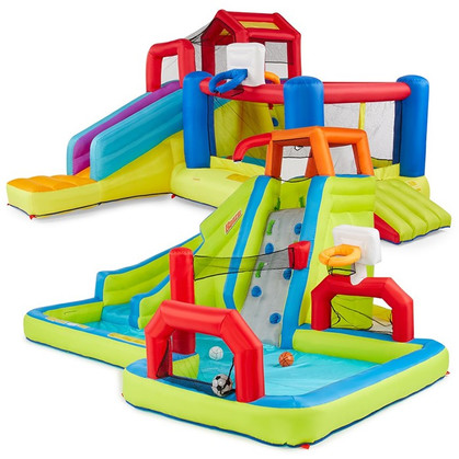 You guys, this is NUTTS!!!! Banzi 2-in-1 Slide & Bounce Combo Pack