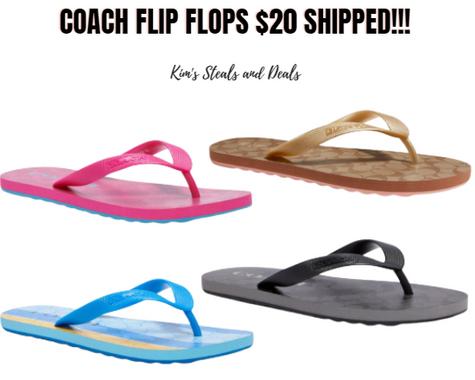 $20 Coach Flip Flops