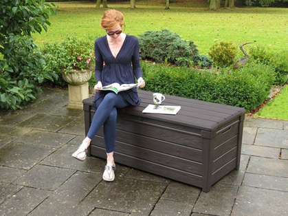 Outdoor Plastic Deck Box Marked Down + Ships FREE!