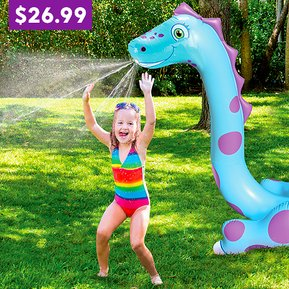 These Giant Dinosaur Sprinklers are so much fun!