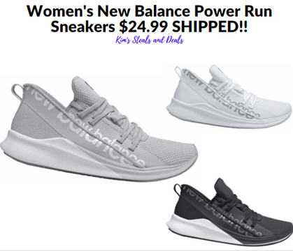 STEAL - ONLY $24.99 + FREE Shipping Women's NB Power Run Sneakers