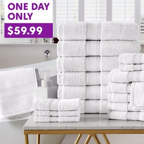 HOT DEAL! on 18-Piece Bath Towel Sets!