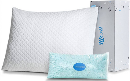 Wanting a good night's sleep? Check out this Shredded Memory Foam Pillow