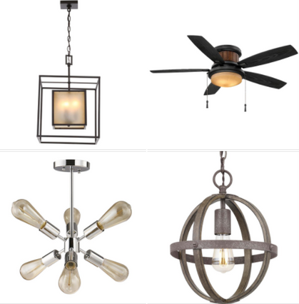 ONE Day ONLY Deals on Lights and Fans!