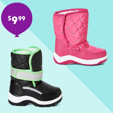 $9.99 Snowboots?!? Yes, please!!