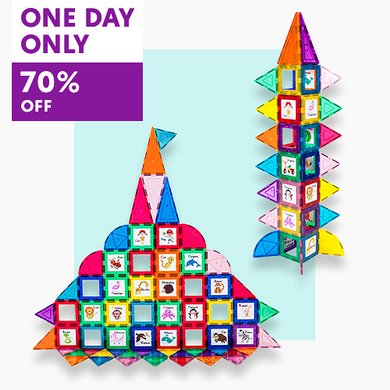 HOT PRICE!! Today ONLY - 102-Piece Learning Magnetic Tile Set