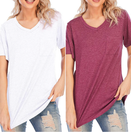 50% price drop here on the perfect V-Neck Pocket Tee!