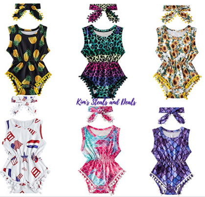 Adorable Rompers drop to $6.49 and UNDER!