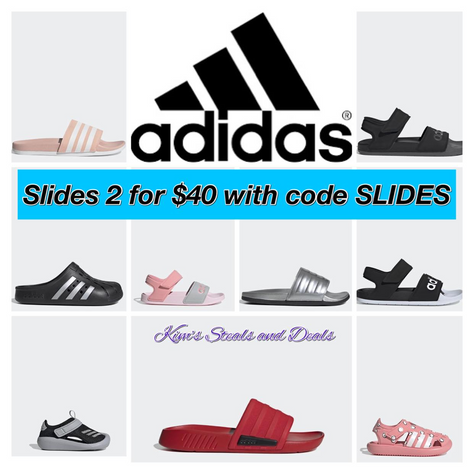 adidas Slides 2 for $40 with code SLIDES