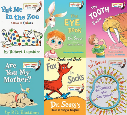 Lots of Dr. Seuss Books are marked down to just $2.98!!
