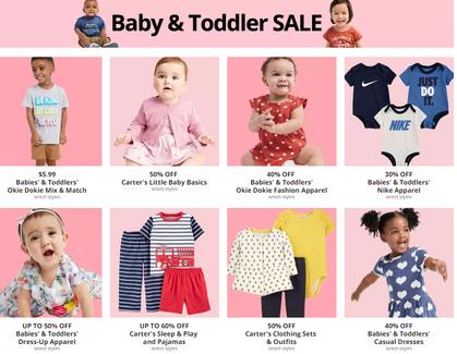 HUGE Baby & Toddler Sale use code get additional 25% OFF!!