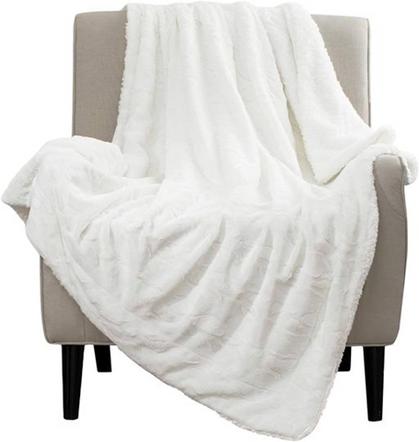 Ultra Soft Faux Fur Reversible Blanket is 60% OFF!