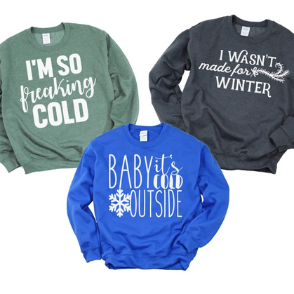 Always Cold?  You'll need this Sweatshirt