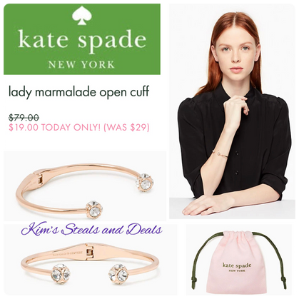 Today ONLY Kate Spade Cuff $19!!