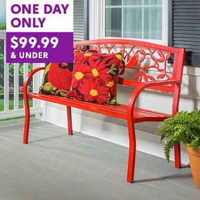 Beautiful Garden Bench would make a fantastic Mother's Day gift!