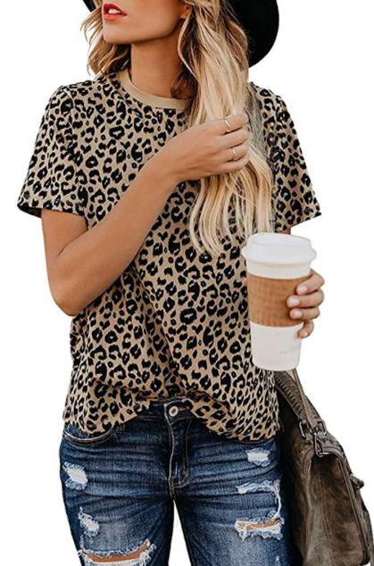Stylish Leopard Print Top drops 40%