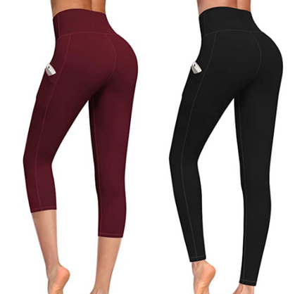 These leggings w/pockets have amazing reviews - under $12 w/code