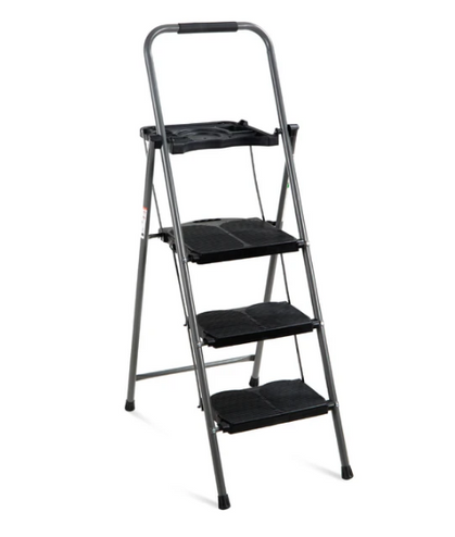 $49.99 when you Use My Promo Code to score this 3-Step Folding Steel Ladder w/ Utility Tray!