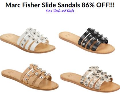 86% OFF - ONLY $12.94 (Reg $99) Marc Fisher Slide Sandals
