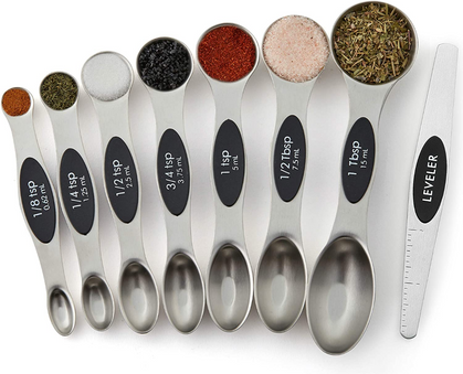 This set of 8 MAGNETIC Measuring Spoons are 44% OFF!