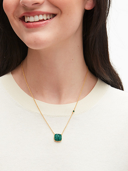 Kate Spade Small Pave Square Pendant Necklace is just $24
