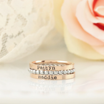 Mother's Day Gift Idea ~ These beautiful stacking rings are a STEAL