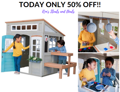 ‼TODAY ONLY‼ The KidKraft Preston Playhouse is half off!!!