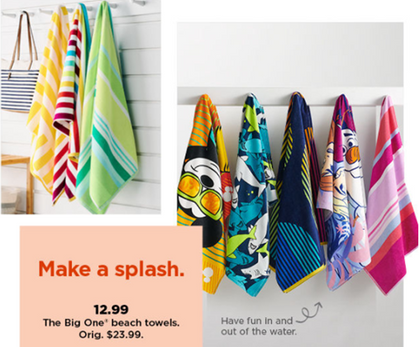 The Big One Beach Towels (my FAVORITE) are just $12.99 Today!
