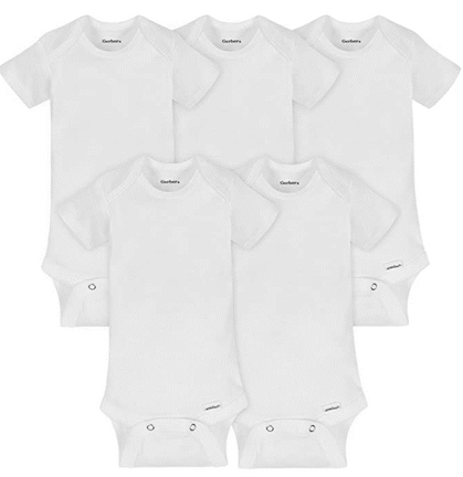 5-Pack of Organic Short Sleeve Onesies Bodysuit, click coupon for a STEAL!