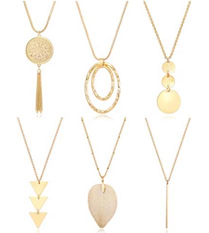 6-Piece Set of Pendant Necklaces drop around $10