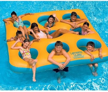 Labyrinth Island Inflatable Pool Toy is 36% OFF
