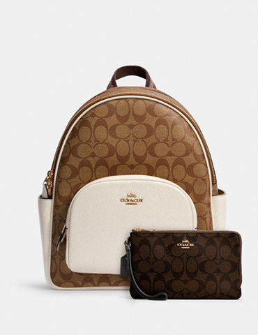 Score this Court Backpack & Double Zip Wallet for just $179
