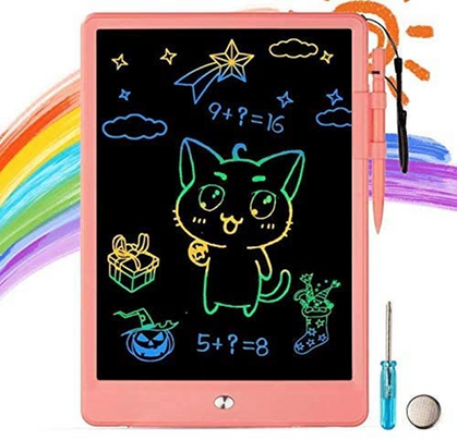 Our kids LOVE these LCD writing tablets in the car! 50% off w/ code!