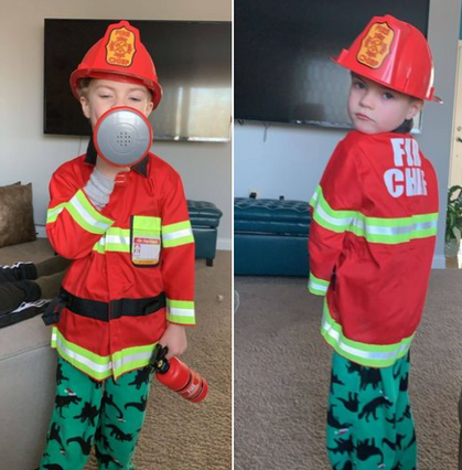 Fire Chief Play Costume