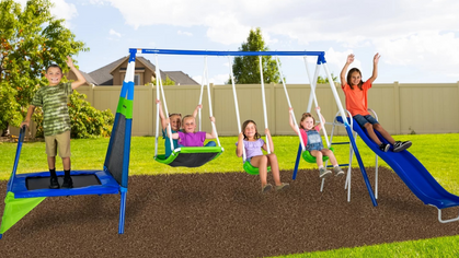 Metal Swing Set is marked down and ships free today!