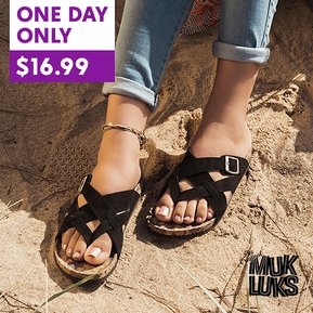 MUK LUK Deal! We love these Sandals!