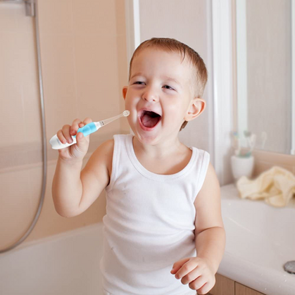 Baby/Toddler Waterproof, LED Light, Sonic Toothbrush with Intelligent Timer is under $10