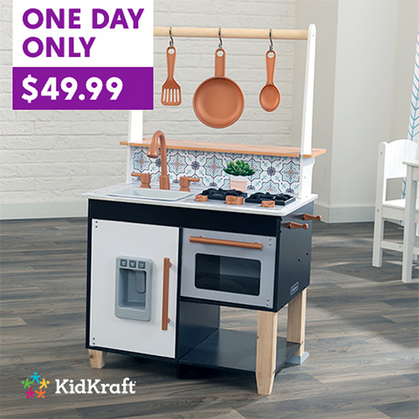 Kids love this play kitchen!!! DEAL TODAY!