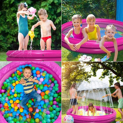 A Kiddie Pool and Sprinkler in one = Genius!! 40% OFF here